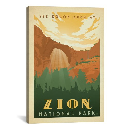 iCanvasART Asa National Park Zion Canvas Art Print by Anderson Design Group, 18 by 12-Inch