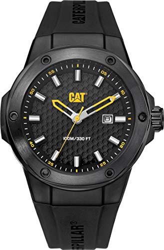 CAT Navigo X Black Men Watch, 44 mm case, Black face, Black Stainless Steel case, Black Silicone Strap, Black dial (AA.161.21.121) ()