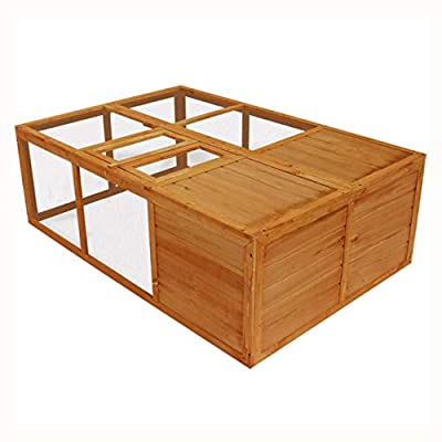 K&A Company Outdoor Foldable Wooden Animal Cage