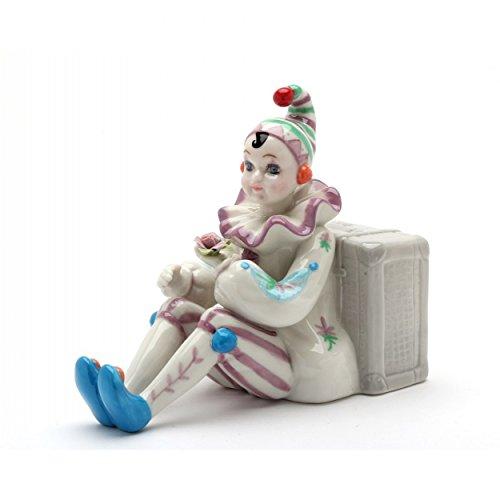 Cosmos Clown Sitting by Luggage Ceramic Musical