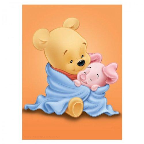 2er Set Baby Winnie Pooh Bilder Auf Keilrahmen 30x40