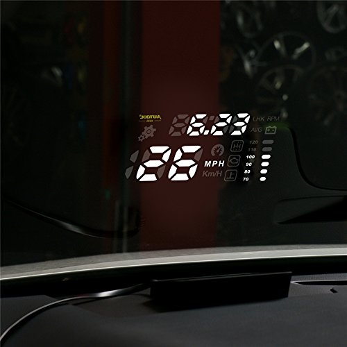 AUTOOL X220 Car HUD Head-Up Display OBDII Speed Warning Water Temperature KMH/MPH Display Digital Car Speedometer by AUTOOL (Image #4)
