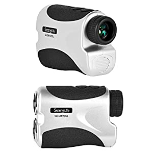 SereneLife Pro Golf Laser Rangefinder - Golfing Range Finder with Pinsensor - Accurate up to 540 Yards - Perfect Golf Accessory - Free Battery