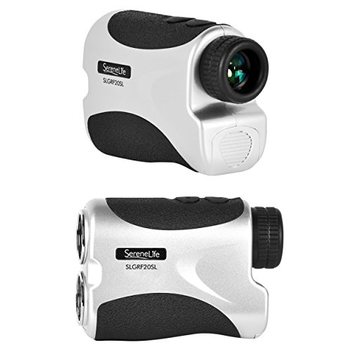 SereneLife Premium Golf Laser Rangefinder with Pinsensor - Digital Golf Distance Meter - Compact Design - with Travel Case by SereneLife (Image #1)