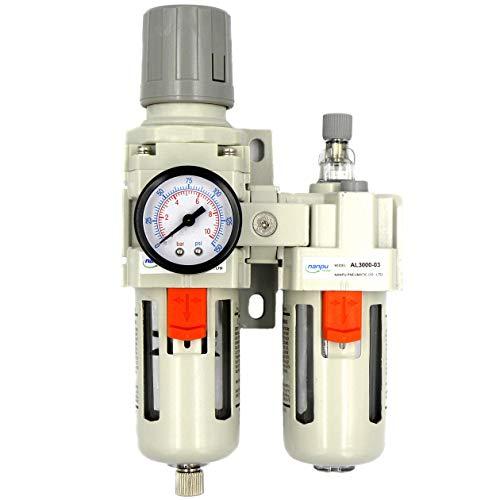 - NANPU Compressed Air Filter Regulator Lubricator Combo 3/8