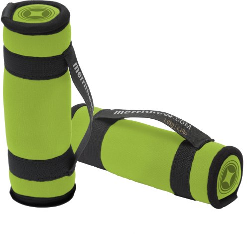 MERRITHEW Soft Dumbbells, Pair (Lime), 2.2 lbs / 1 kg each