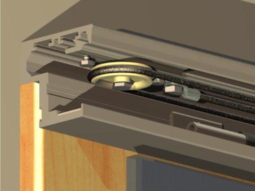 La mitad de la automático para puerta corredera de los herrajes, para puertas correderas con un soft top (sin amortiguador): Amazon.es: Bricolaje y herramientas