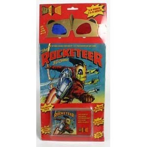 Price comparison product image THE ROCKETEER 3-D COMIC WITH 3-D GLASSES AND CASSETTE TAPE