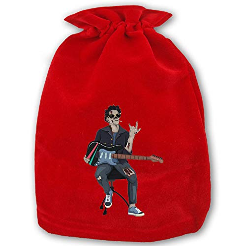 Christmas Bag Santa Sack Personalized Canvas Burlap Bag for Gifts Christmas Gift Bags Drawstring Santa Sack Special Delivery Zombie Rocker