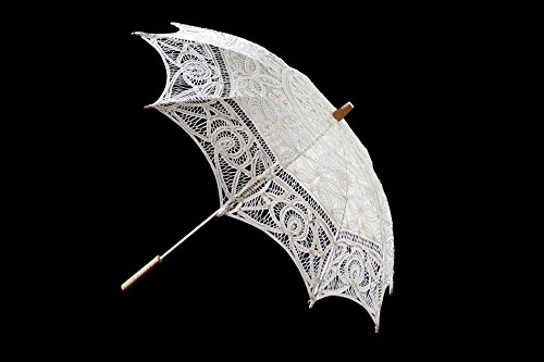 The 1 for Vintage Batternburg Lace Parasol 8 Colors (White) by The 1 for U (Image #4)