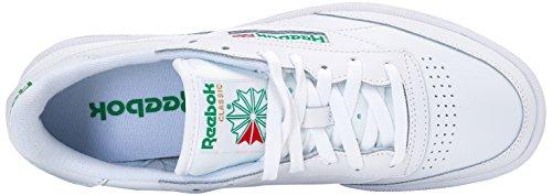 Hombre C Reebok para White 85 Green Int Zapatillas Club Blanco 5XwqS4OwaW