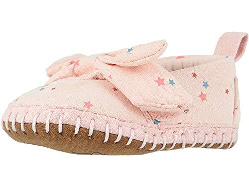 TOMS Kids Baby Girl's Crib Alpargata (Infant/Toddler) Ballet Pink Star Print Microsuede 1 M US Infant (Toms Kids Orange)