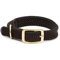 Mendota Products Collar de Trenza Doble para Perro, 2.54 cm por 53.3 cm, negro