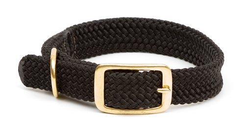 (Mendota Products ME31103 Pet Double Braid Dog Collar, 1 x 21, Black)