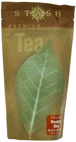 100g Loose Tea (Stash Tea Organic Breakfast Blend Loose Leaf Tea, 100 Gram Pouches)