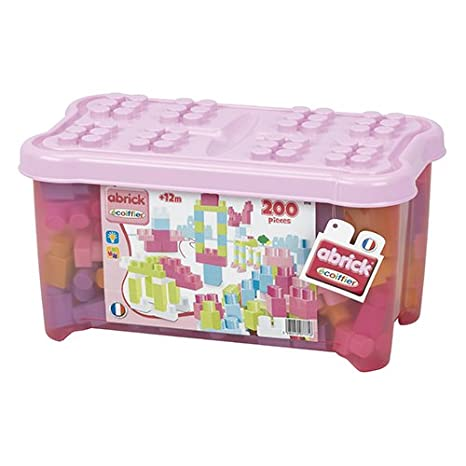 Smoby 7775 Caja 200 Piezas Maxi abrick Color Rosa