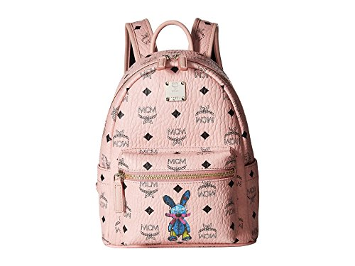 MCM Women's Rabbit Backpack Mini Soft Pink One Size