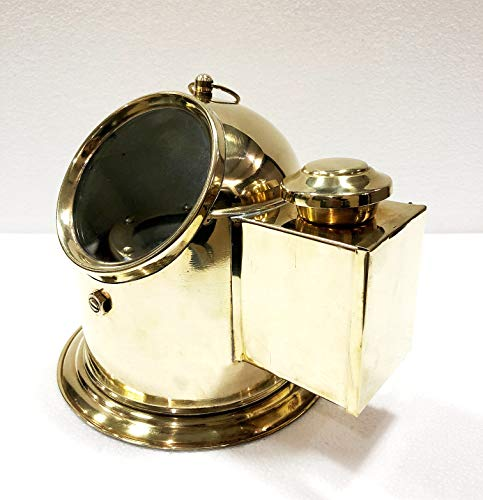 Antique Vintage Brass Floating Dial Binnacle Gimbled Compass Nautical Ship/Boat Oil Lamp by Antique (Image #2)