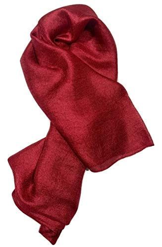 Shanlin Solid Color Silk Feel Long Scarves (Red ()