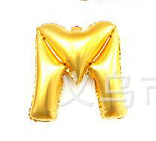 LingStar Hot sale Party decoration Alphabet Letter GOLD balloons Letter M