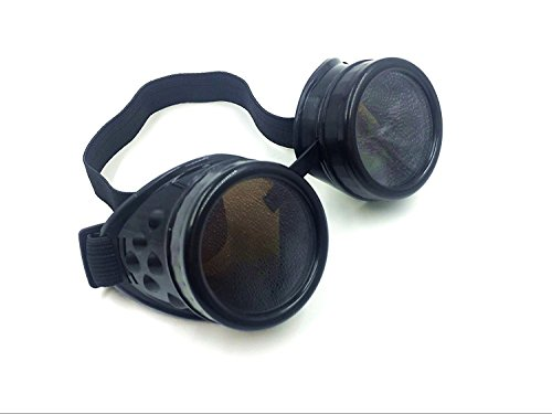 Cyber Goggles Steampunk Welding Goth Cosplay Vintage Goggles Rustic (Glod) 4