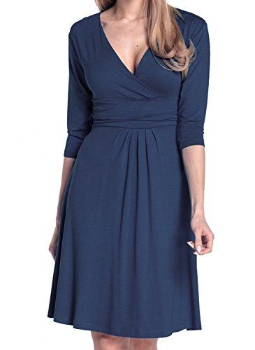 Viscose Jersey 3/4 Sleeve Dress - 3