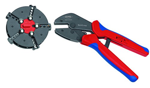 Knipex Tools 97 33 02 MultiCrimp Pliers and Quick Changer Magazine with 5-Interchangeable Crimping Dies by KNIPEX Tools