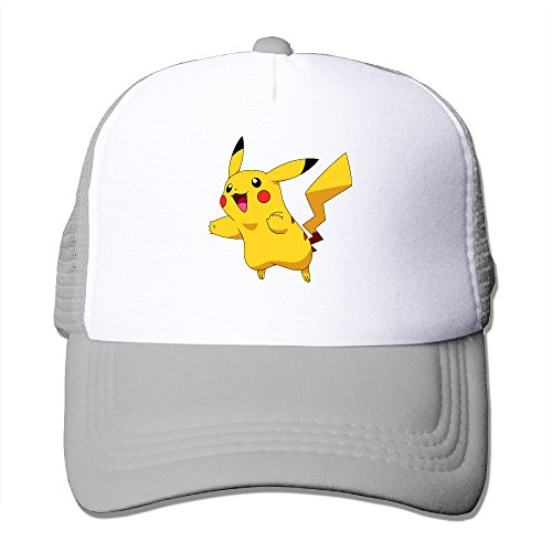 [Pokemon Pikachu Costume Hoodie Adults Sports Mesh Hat] (Pinocchio Adult Costumes)