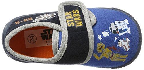 Star Wars Sw001703, Zapatillas de Estar por Casa para Niños Blau (D.C.Blue/Navy/L.Grey)