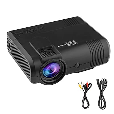 Mlison Projector Video Home TV Theater 1080p Laptop 2000 Lumens Led Mini Portable Multimedia Game Projector for PC iphone Smartphone PS4 PS3 Supporting Amazon Fire TV Stick, HDMI, VGA, USB, AV, SD