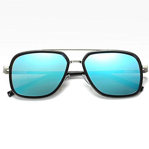 sol Gafas de Hombres sol Aleacion Marrón 100 Rectangular Mens Gafas de Proteccion UV Polarizado Plaza 1vqAwxfnC