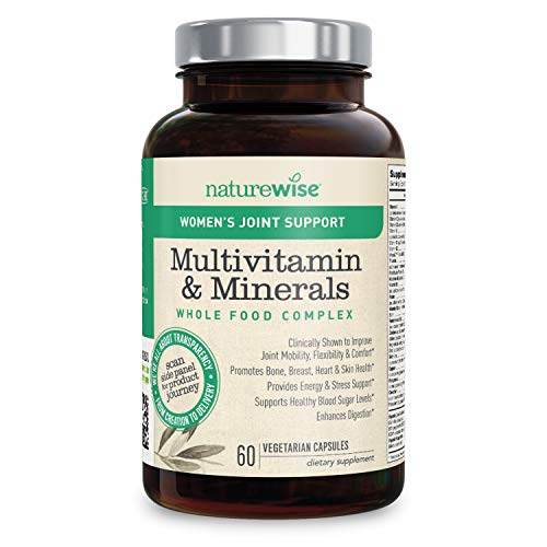 NatureWise Women's Multivitamin Whole Food Complex with Joint Support | Vitamins for Healthy Heart & Bones + UC-II Collagen for Joint Mobility & Comfort (⬇ Watch Video in Images) [1 Month - 60 Count] ()