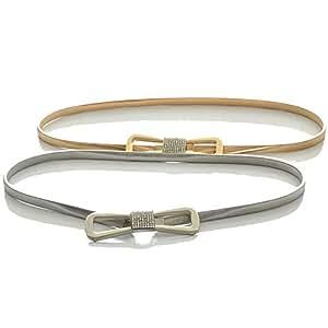 SGJFZD New Waist Chain Metal Butterfly Jewelry Rhinestone Inlaid Buckle Fashionable Elastic Elastic Waist Belt (Color : Silver, Size : 115cm)