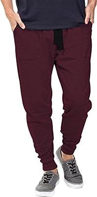 Mrignt Mens Casual Jogger Sweat Pants Cotton Active Elastic Waist Running Sports Trousers