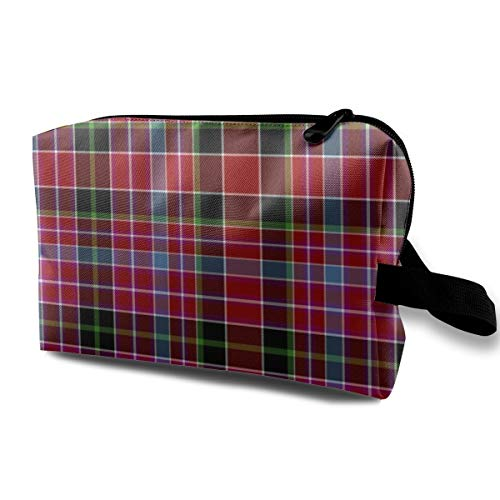 Aberdeen Tartan, 12, By Wilson's Of Bannockburn_23391 Cosmetic Bags Portable Travel Makeup Organizer Multifunction Case Bags for Women