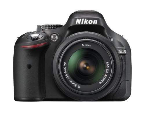Nikon D5200 24.1 MP CMOS Digital SLR with 18-55mm f/3.5-5.6 AF-S DX VR NIKKOR Zoom Lens (Black) (Discontinued by Manufacturer)