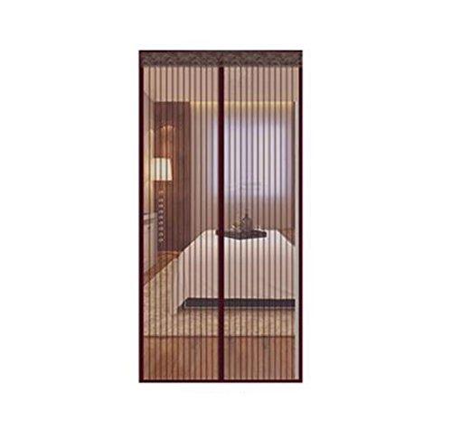 (Zanzariera With heavy magnetic screen door Door mosquito netting Heavy-duty mesh screen and full frame velcro Door nets-H 130x220cm(51x87inch))