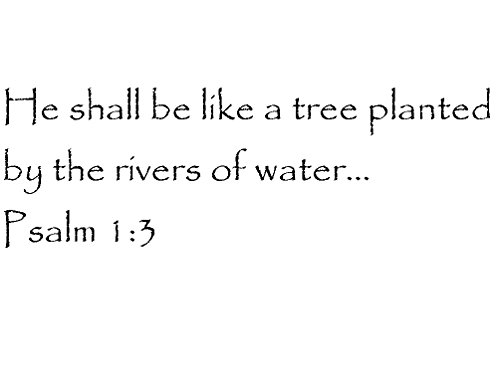 Tapestry Of Truth - Psalm 1:3 - TOT3595 - Wall and home scripture, lettering, quotes, images, stickers, decals, art, and more! - He shall be like a tree planted by the rivers of water... Psalm 1:3 (A Tree Planted By Rivers Of Water)