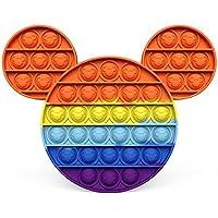 Brinquedos Pop its fidget Fidget Rainbow Push It Bubble Brinquedos Antistress Crianças Adultos Aliviador de Estresse…