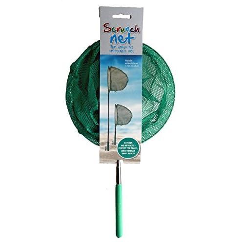 Scrunch Froissez Rsn-05Net avec poignée télescopique Playset, Vert