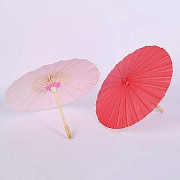 Flur Party Hochzeit Zeremonien Tonpot Deko-Papierschirm f/ür Kinderzimmer Festival Dekoration Rose Red-L 60 cm