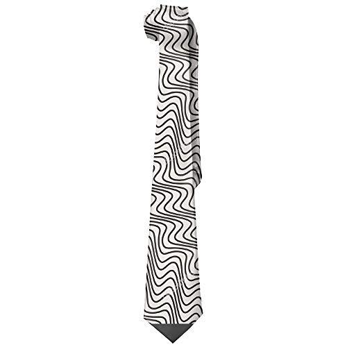 (Men's Necktie The Wave Pattern Skinny Ties/New Novelty Necktie)