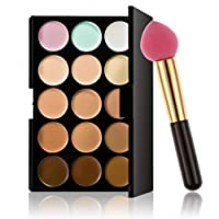 Pagacat Professional 15 Colors Makeup Palette Concealer Cream Makeup Puff Set Concealers & Neutralizers