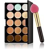 Foshin Professional 15 Colors Makeup Palette Concealer Cream Makeup Puff Set Concealers & Neutralizers