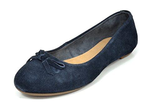 Coppie Sogno Sol Slip Antiscivolo Donna Casual Tinta Unita Balletto Comfort Suede Slip On Flats Scarpe Sol-navy