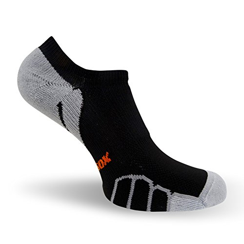"""Vitalsox Running Ghost """"No Show"""" Ultra Light Weight Performance Arch Support Socks- 1 Pair, Black, Small VT0510"""