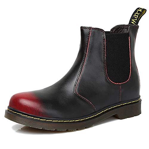 Vacation Boots Vintage Chelsea Vera Business Stivali Size Uomo Da Plus Antiscivolo Stivali Martin In Red Pelle Pelle Antiscivolo In ZTwdqW8w