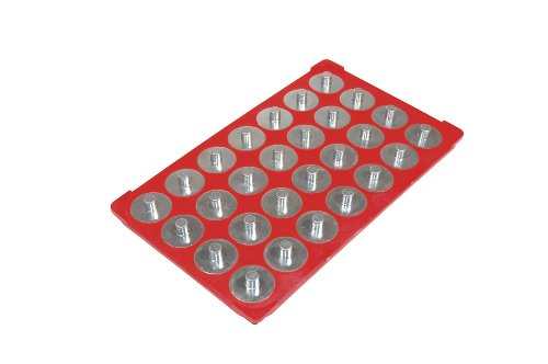 (Triton Products 72422 MagClip Socket Caddy and 28 Interchangeable Pegs 3/8-Inch Drive 6-1/8-Inch by 10-1/4-Inch, Red)