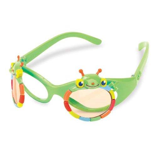 Melissa & Doug Sunny Patch Happy Giddy Flip-Up Sunglasses for Kids - Cute Bug Design