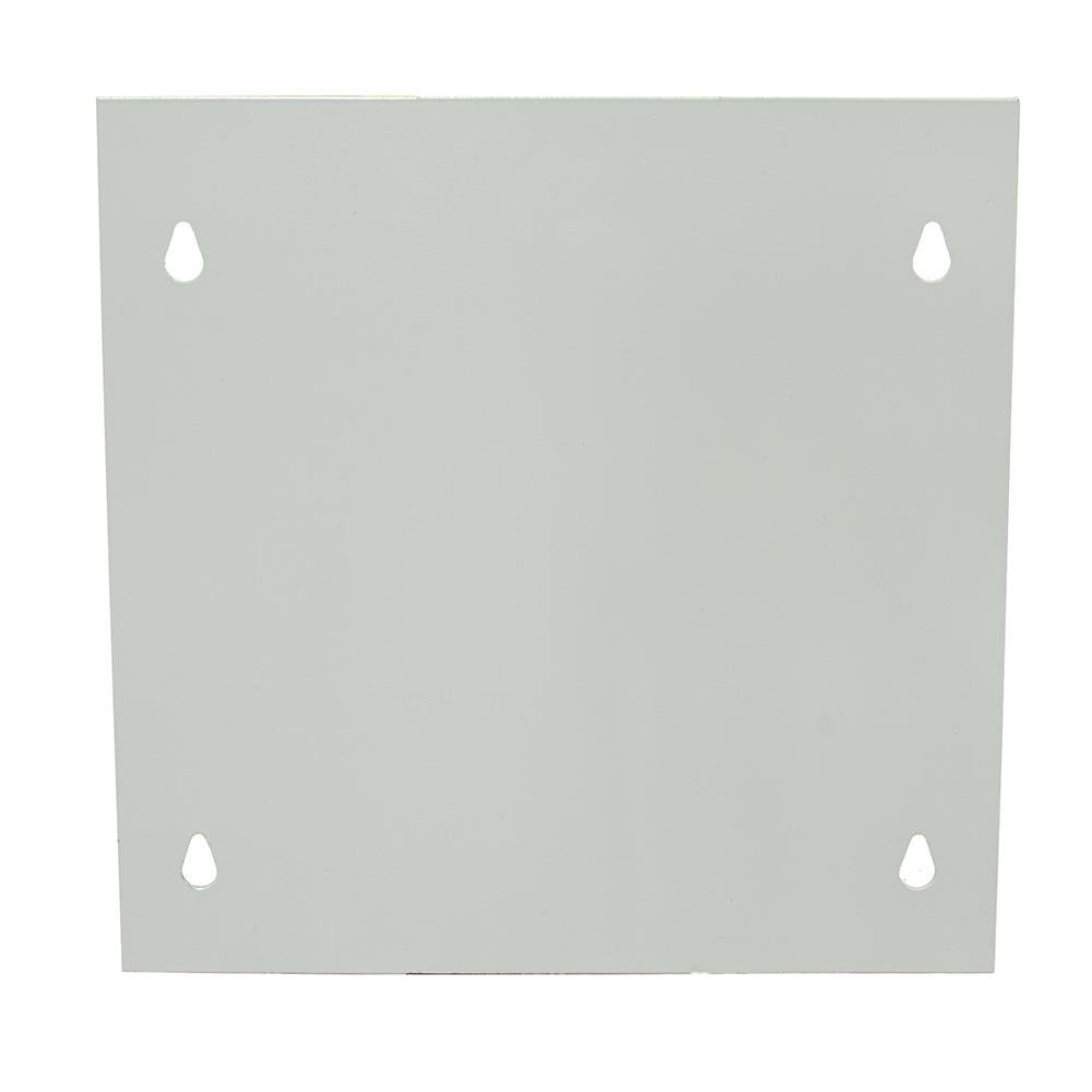 Milbank 1212XSC1 Polyester Powder Coated Steel Screw Cover 12 Inch x 12 Inch ANSI 61 Gray